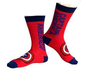 Captain America superhero socks