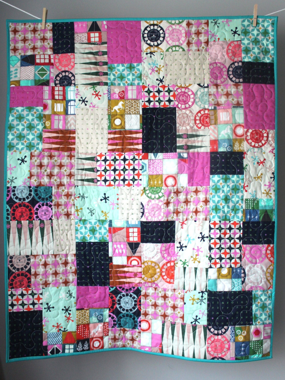 Unusual Quilting Ideas : Unique Baby Quilt-Modern Baby Quilt-Gender Neutral Baby