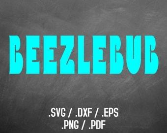 Bubble Font Design File, Silhouette Studio, Cricut Design, Brother Scan Cut, Scal, DXF Files, SVG Font, EPS File, Svg Font, Beezlebub