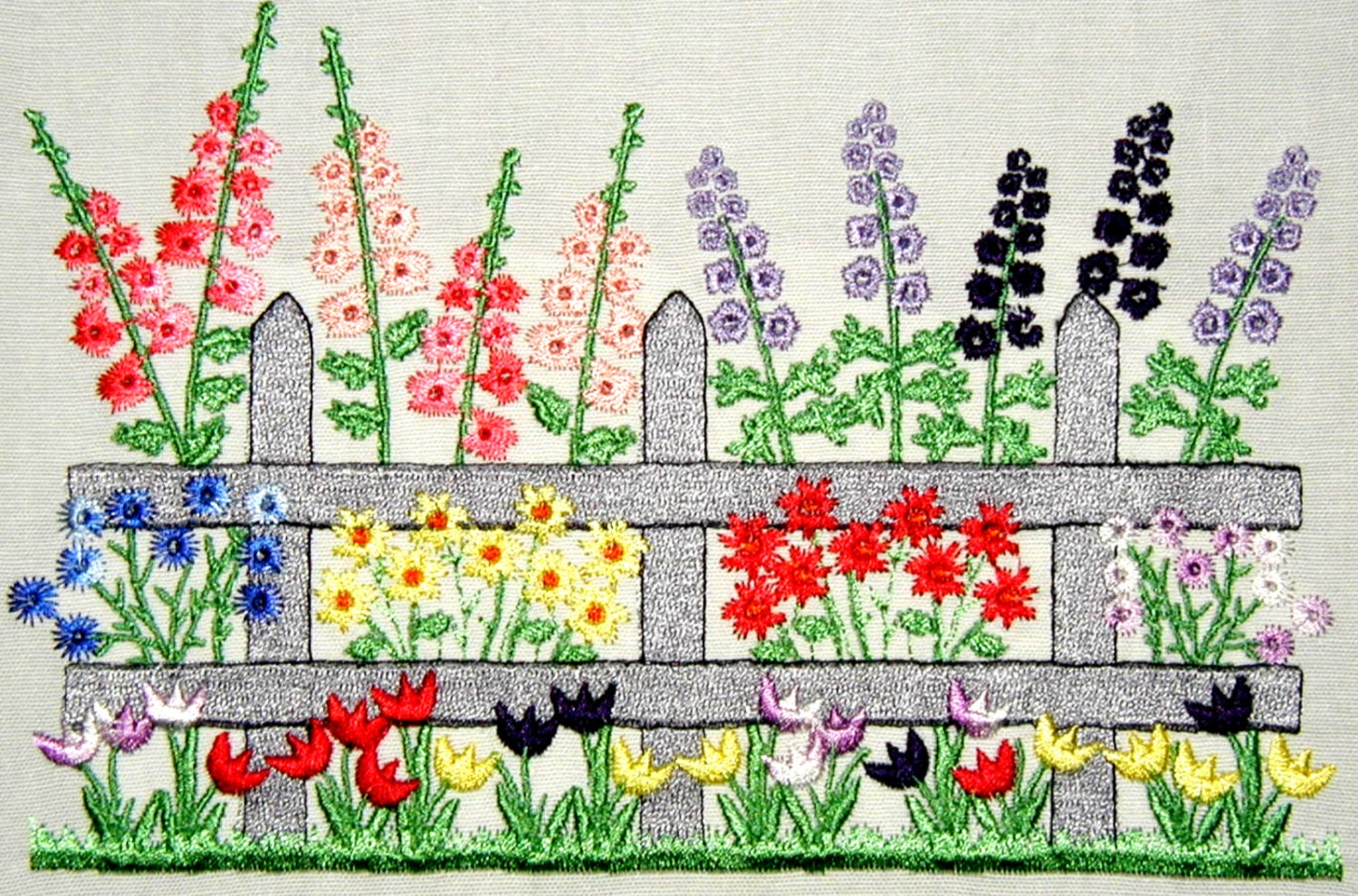 In the garden large machine embroidery designs