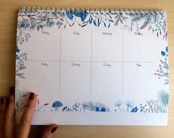 WINTER FLORALS weekly planner