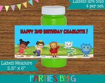 Daniel Tiger Neighborhood Bubble Labels Birthday Party Favors Custom Personalized ~ We Print & Ship To You