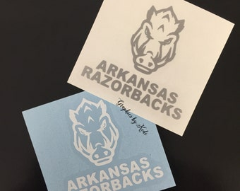 Arkansas Razorback Decal - Arkansas Razorbacks - Sticker