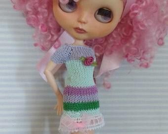 Blythe summer dress green and pink