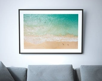 Above // Large Beach Poster Print, Aerial Beach Photography, Large Wall Art Beach Prints, 8x10, 11x14, 12x16, 12x18, 16x20, 24x36, 50x70cm