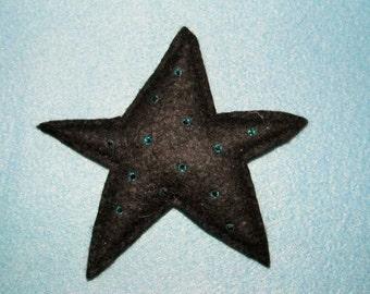Christmas star pin