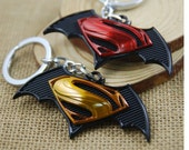 Super Heroes Mini Batman Superman Logo Key Chains Metal Pendant Keychains Charm Car Keyrings For Unisex 2