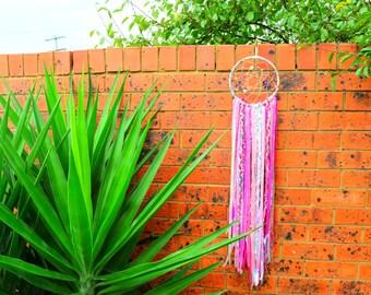 Long Dreamcatcher (Pink), Shabby Chic Wall Decor