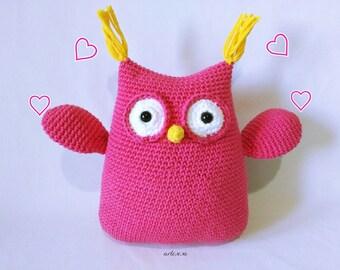Owl amigurumi, crochet owl, owl fabric, amigurumi owl