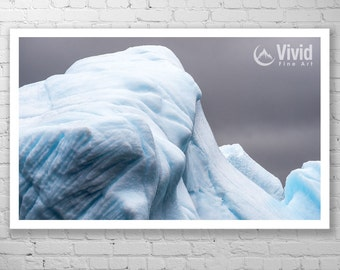 Iceberg Photography, iceberg print, aqua and gray, iceberg pictures, framed print, matted prints, nfld photography, tip of the iceberg, ice