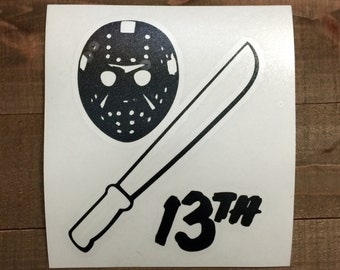 Friday The 13th Jason Decal