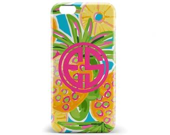 1280 // Pineapple Monogram Phone Case iPhone 5/5S, 6/6S, 6+/6S+ Samsung Galaxy S5, S6, S6 Edge Plus, S7