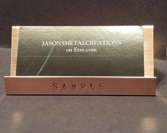 copper business card holder - Business Card Holder Desk