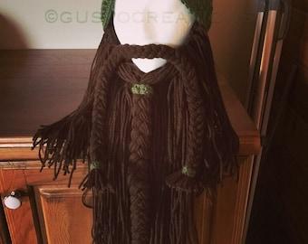 Dwarf Beard, Crochet Hat with Beard, Dwarf Beard Hat