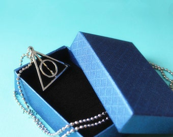 Harry Potter Inspired Deathly Hallows Necklace with GIFT BOX--U.S. Free & Fast Shipping