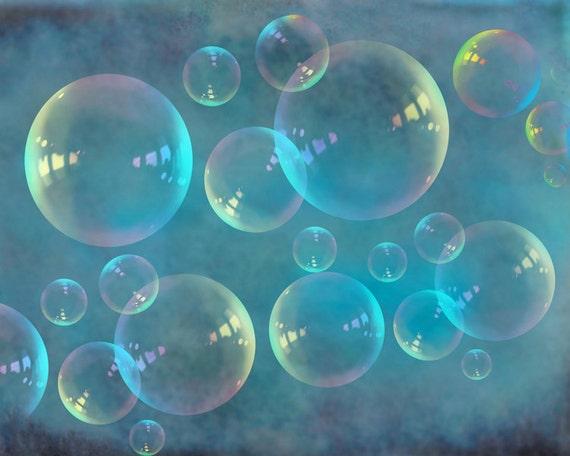 Teal Bathroom Decor Turquoise Teal Bubbles Nursery Decor