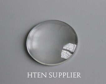 10pcs 40mm Round Clear Glass Cabochons,Clear Top quality Glass Cabochons 40mm