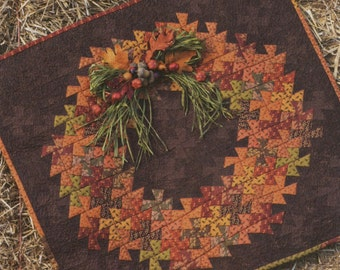 Twister Harvest Designed by Becky Cogan --  Pattern #LP2 From Need'l Love -- Autumn Wreath