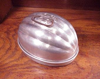 Wear-Ever Jell-O Type Aluminum Mold, no. 110, vintage Wearever, Jello