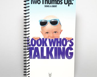 Look Who's Talking Original VHS Movie Box Recycled Spiral Notebook