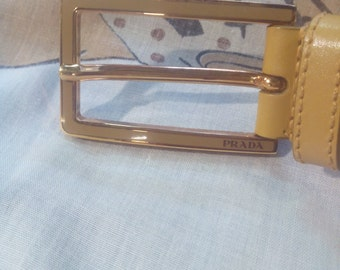 Prada belt belt leather.