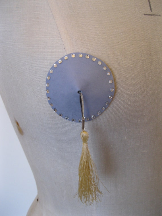 how to make leather nipple pasties