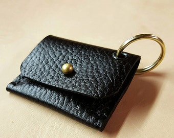 Leather Coin Purse Keychain