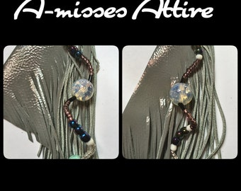 A-Misses Attire wolf in sheeps clothing Medium earring| Sterling sliver hooks