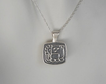 Sterling Silver Mayan Rain God Pendant Gender Neutral Mexican Tribal Jewelry Made in Montana Fine Jewelry Women's Necklace Men's Necklace