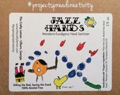 Hand Sanitizer - Mandarin-Eucalyptus Jazz Hands - 100% ALCOHOL FREE - Handcrafted with Organic Ingredients by The Crafty Lemon!!