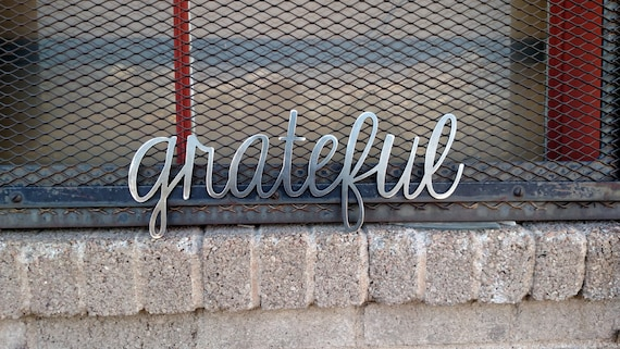 Grateful metal sign for home decor wall signs gifts