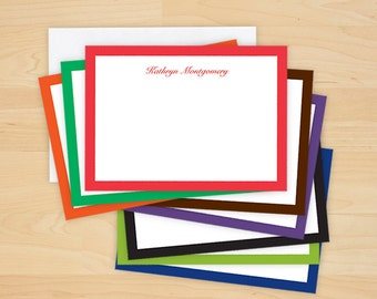 Bold Bordered Correspondence Cards