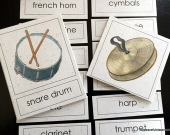 Instruments of the Orchestra 3-Part Matching Cards
