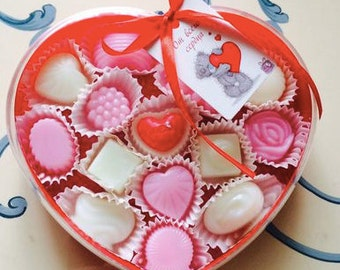Sweet Handmade Strawberry Chocolate Soap Candy Box