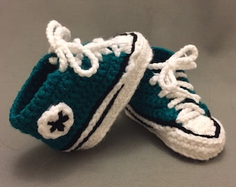 Converse-style Crocheted Slippers