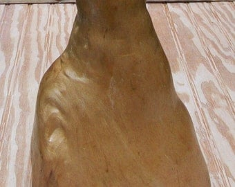 Cypress Knee - Wood Carving, Lamp Base, Decor - 10 1/2""