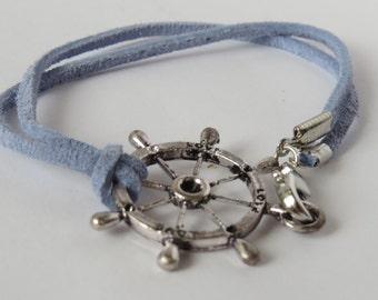 Nautical Suede Cord Bracelet