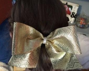 Golden Hair Bow