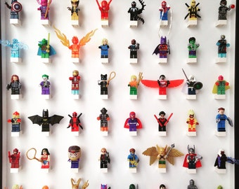 large play n display board with 48 minifigures
