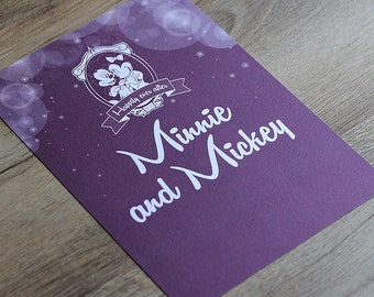 Enchanted Fairytale Disney Wedding Table Card / Table Number / Table Name