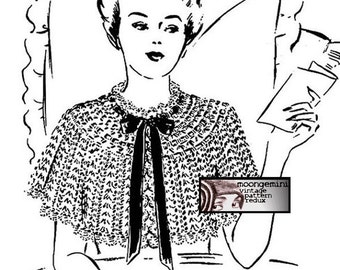 Crochet Cape Bed Jacket Vintage Crochet Pattern PDF Instant Download