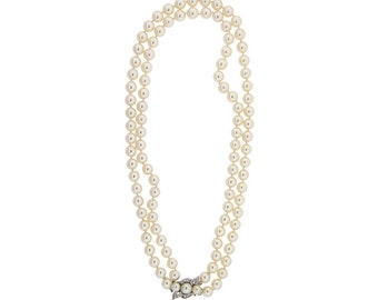 Vintage / Estate Double Strand Cultured Pearl Necklace