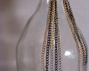 Long Chain Fringe Earrings