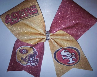 Cheer Bow-SF 49ERS