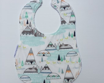 Aqua Mountain Baby/Toddler Bib