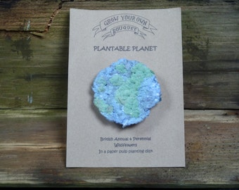 Grow Your Own Bouquet Plantable Planet Seed Bomb (Flanders poppy)