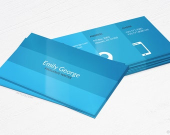 Writer Business Cards - Blogger - Design and Printing - 16PT UV - 100, 250, 500, 1000