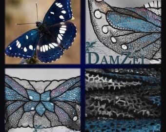 Winter shawl, Wool wrap scarf, Knit shawl wrap, crochet shawl,  Women Crochet Scarf, shawl, butterfly