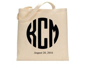Monogram Initials Wedding Welcome Tote Bag, Welcome tote bag, Wedding tote bag, Guest tote bag, Wedding Canvas tote, Monogram tote