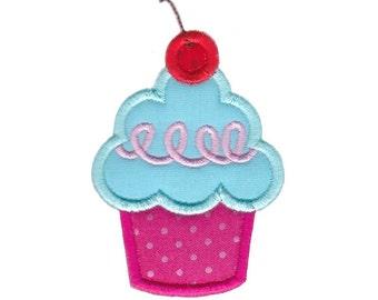 Hello Cupcake Applique Design 12 Machine Embroidery Design 4x4 5x7 6x10
